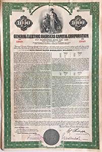 General-Electric-Overseas-Capital-Corp-gt-1965-GE-1-000-coupon-bond-certificate