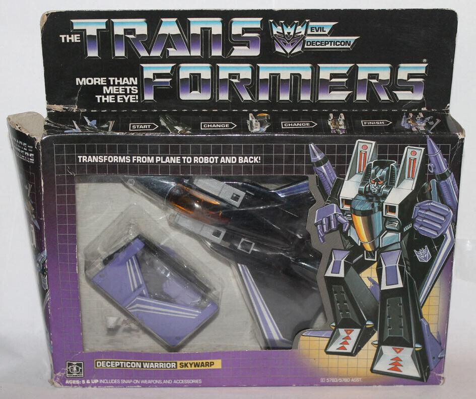 1985 Hasbro Transformador G1 Decepticon Guerrero Skywarp Precintado Burbuja sin