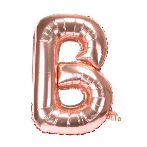 """32/"""" Rose Gold A-Z Letter Foil Balloons Name AGE 0-9 Number Balloons Choose"""