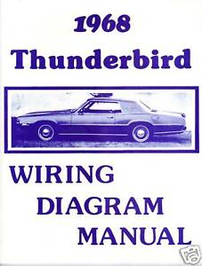 1968 FORD THUNDERBIRD WIRING DIAGRAM MANUAL   eBayeBay
