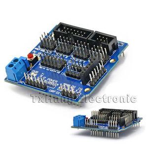 Arduino-UNO-MEGA-Duemilanove-Sensor-Shield-V5-Digital-Analog-Module-Servo-Motor