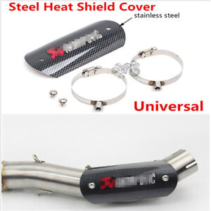Universal Motorcycle Exhaust Muffler Link Pipe Heat Shield Protector Cover Guard