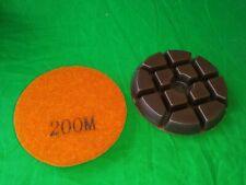 3 Diamond Polishing Pads Resin Bond Grinding Disc Wet For Concrete Grit 200m
