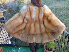 Silberfuchs cappotto pelliccia VOLPE GOLDEN PELLICCIA FOURRURE SILVER FOX RED
