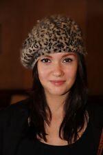 Baskenmütze Damenmütze Französische Mütze Hut Wolle Angora Beret Barette Leopard