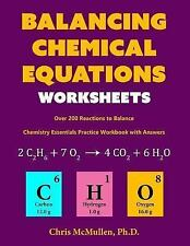Balancing Chemical Equations Worksheets (over 200 Reactions to Balance) :...