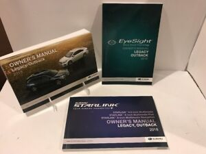Image Is Loading 18 2018 Subaru Legacy Outback Owners Manual With