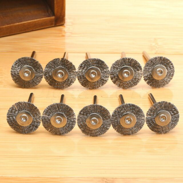 10Pcs Steel Wire Wheel Brushes Rotary Polish Tool Power Die Grinder Accessories