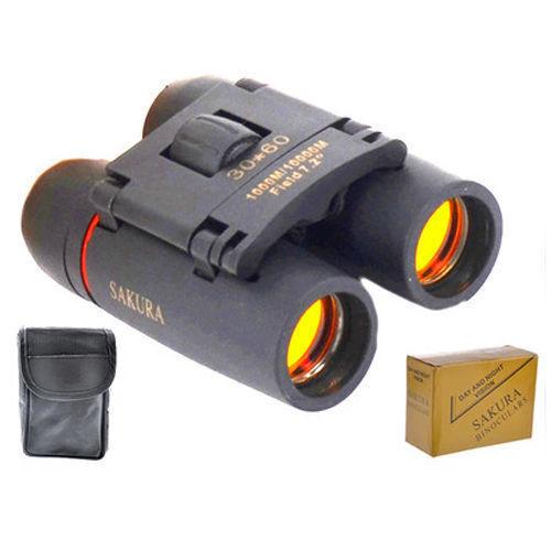SAKURA Day And Night Vision 30 x 60 ZOOM Mini Compact Binoculars Telescope UK