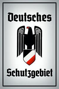 Deutsches-Schutzgebiet-7-Blechschild-Schild-Blech-Metal-Tin-Sign-20-x-30-cm