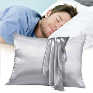 2PCS-Soft-Silk-Pillow-Case-Facial-Beauty-Pillowcase-Cover-Household-Bedding-Set