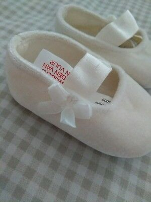 * Offersaccepted * Bambina Avorio Carrozzina Scarpe-matrimonio/battesimo/natale-d* Baby Girl Ivory Pram Shoes - Wedding / Christening / Christmas It-it