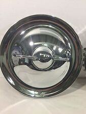 "New Set of 4 15"" Single Bar Chrome Bullet FLIPPER Hubcaps Hot Rod Rat Rod"