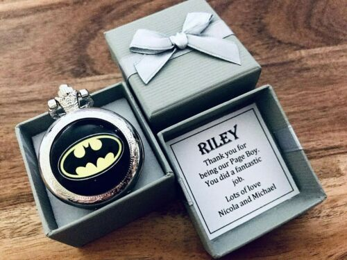 PERSONALISED, BIRTHDAY gift WEDDING STUNNING pocket watch BATMAN