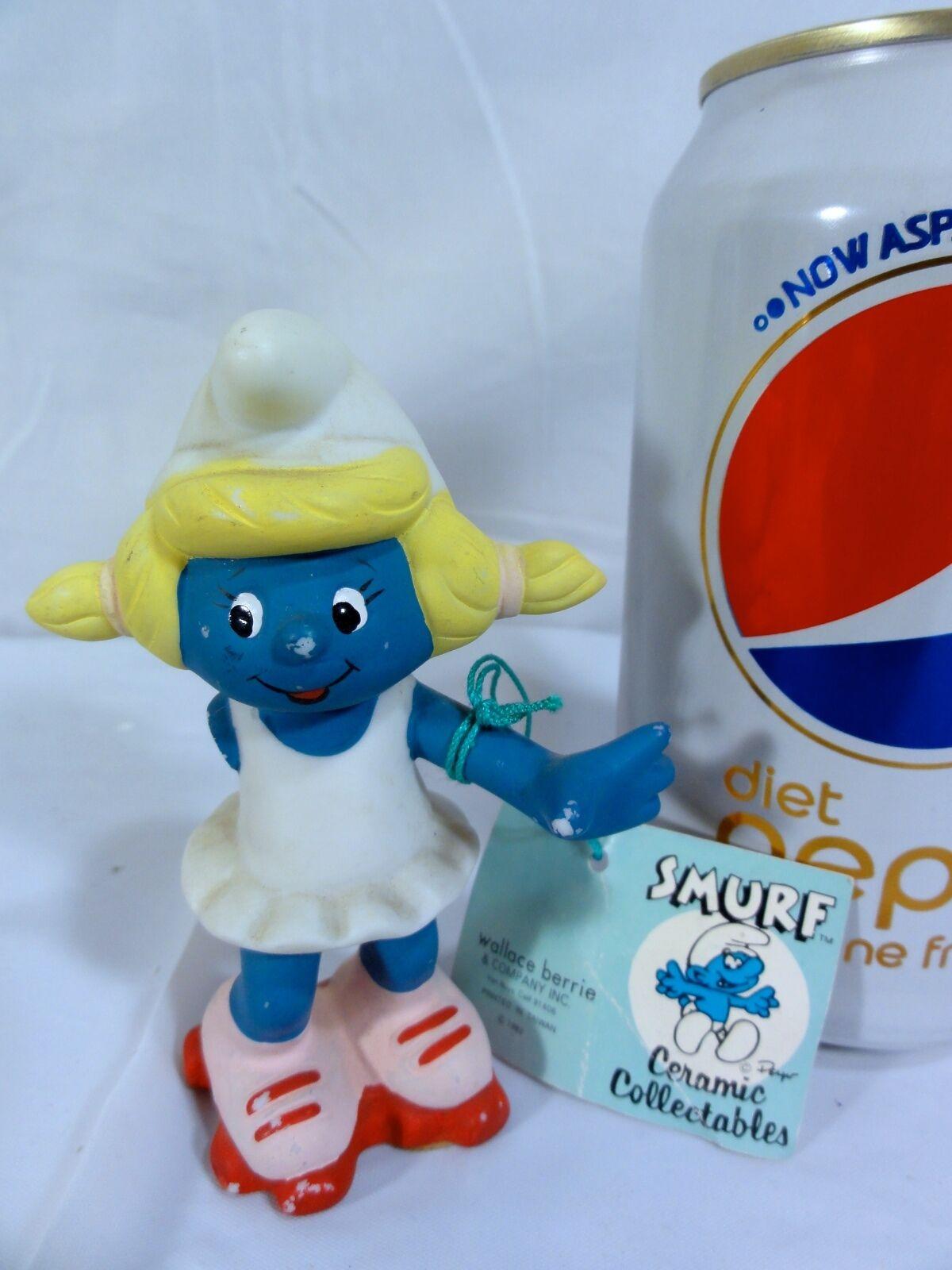 Smurfette Ballerina Dancer Vintage 2inch Figurine 20098 Dancing Girl Smurf Dance