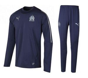 Details zu Puma Olympique Marseille Trainingsanzug 1819, Farbe Blau Gr. XS