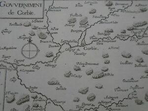 Ordonné 1634 Gravure Carte Xviie - Picardie -gouvernement De Corbie - Tassin-nord