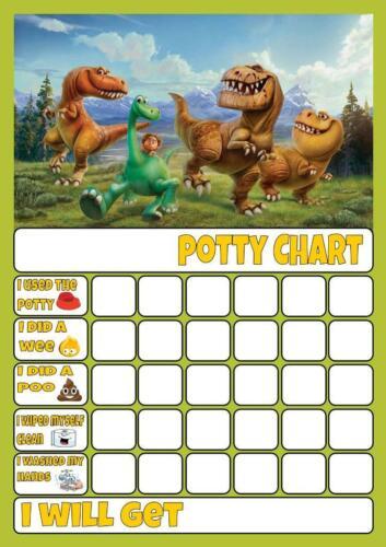 Boa Dinossauro Potty//Treino De Banheiro recompensa gráfico Grátis Stars /& Caneta