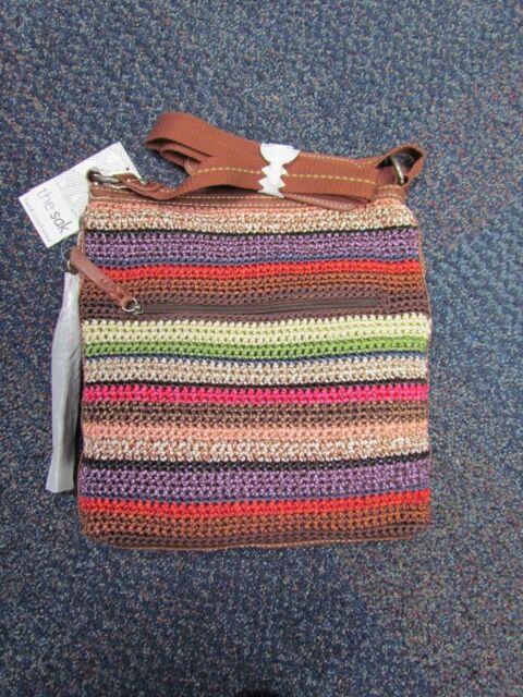 The SAK Lucia Crochet Crossbody 4 Colors Cross-body Bag Vagabond Stripe b8077033121f6
