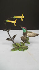 C Franklin Mint Porcelain and Bronze Hummingbird Figurine