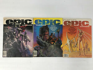 Epic-Illustrated-Marvel-Fantasy-SciFi-Magazine-Complete-Collection-NR-1980-1986