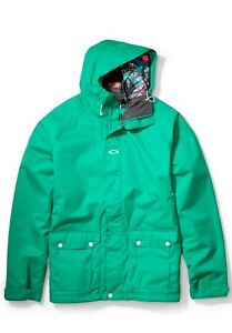 oakley jacket  Mens Oakley Loose Fit 2 Snow Ski Snowboard Jacket Lush Green Size ...