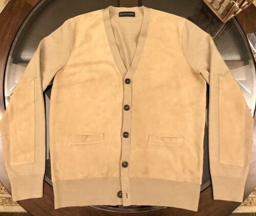 Ralph Lauren 100% Leather Suede & Cashmere Cardiga