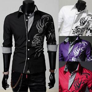 US-Luxury-Hot-Men-Slim-Fit-Shirts-Long-Sleeve-Dress-Shirt-Casual-T-Shirt-Formal