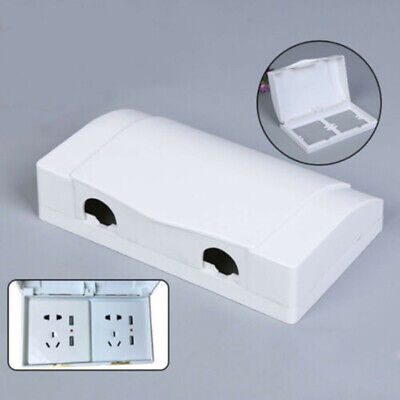 Uk Waterproof Double Socket Protector Electric Plug Cover Child Safety Box Ebay