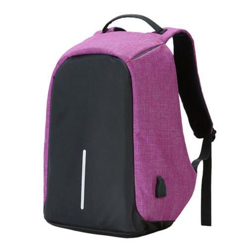 USB Charging Port School Bag Anti-theft Mens Womens Laptop Notebook Backpack