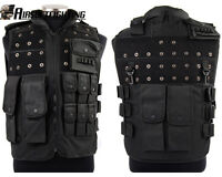 Airsoft Police Tactical Paintball Wargame Tactical Combat Assault Vest Black