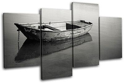 Mirror Calm Lake Sunset Seascape MULTI CANVAS WALL ART Picture Print VA