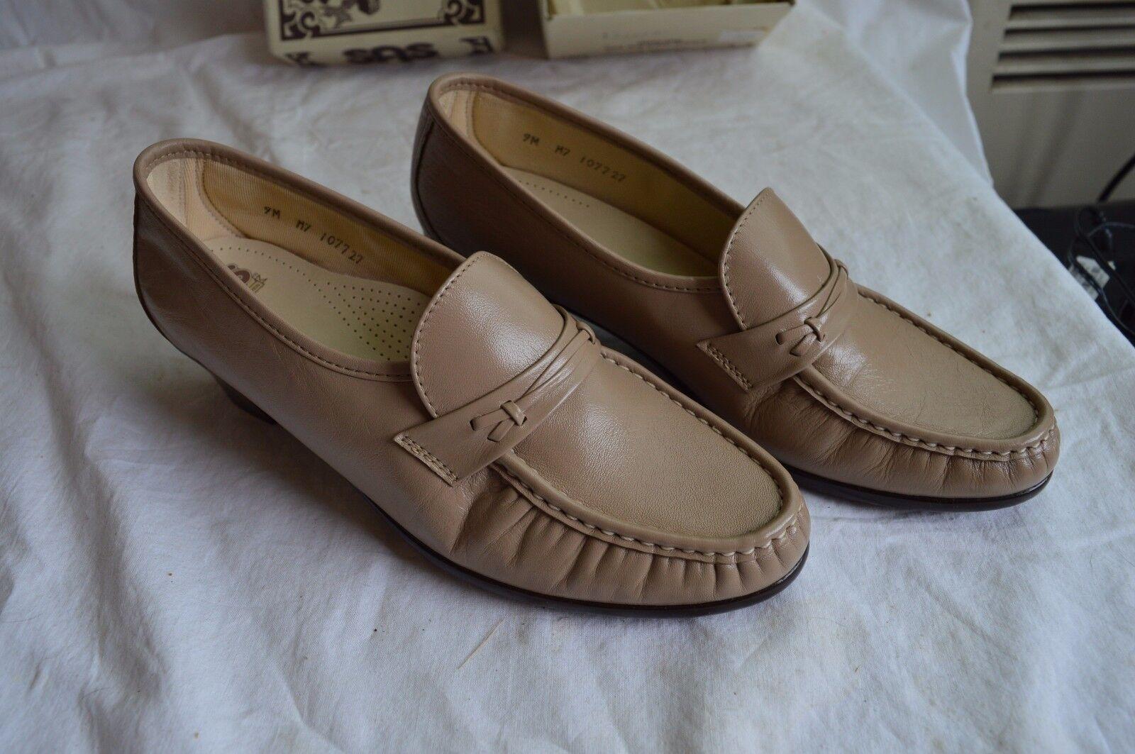 Nuevo zapatos Vestido de confort Genuino SAS zapatos Nuevo  para Caminar fácil Mocha Cuero 9M de 9 Mediana Con Caja 2f0249
