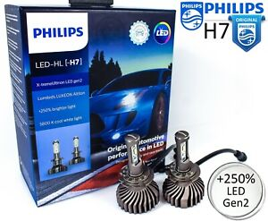 h7 led philips x treme ultinon gen2 6500k 250 car. Black Bedroom Furniture Sets. Home Design Ideas