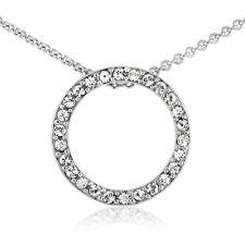 Crystal Open Circle Neckalce with Swarovski Elements