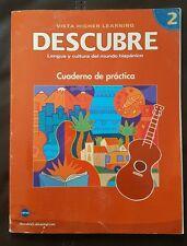Descubre Lengua y Cultura del Mundo Hispánico Nivel 2 Cuaderno de practica 08
