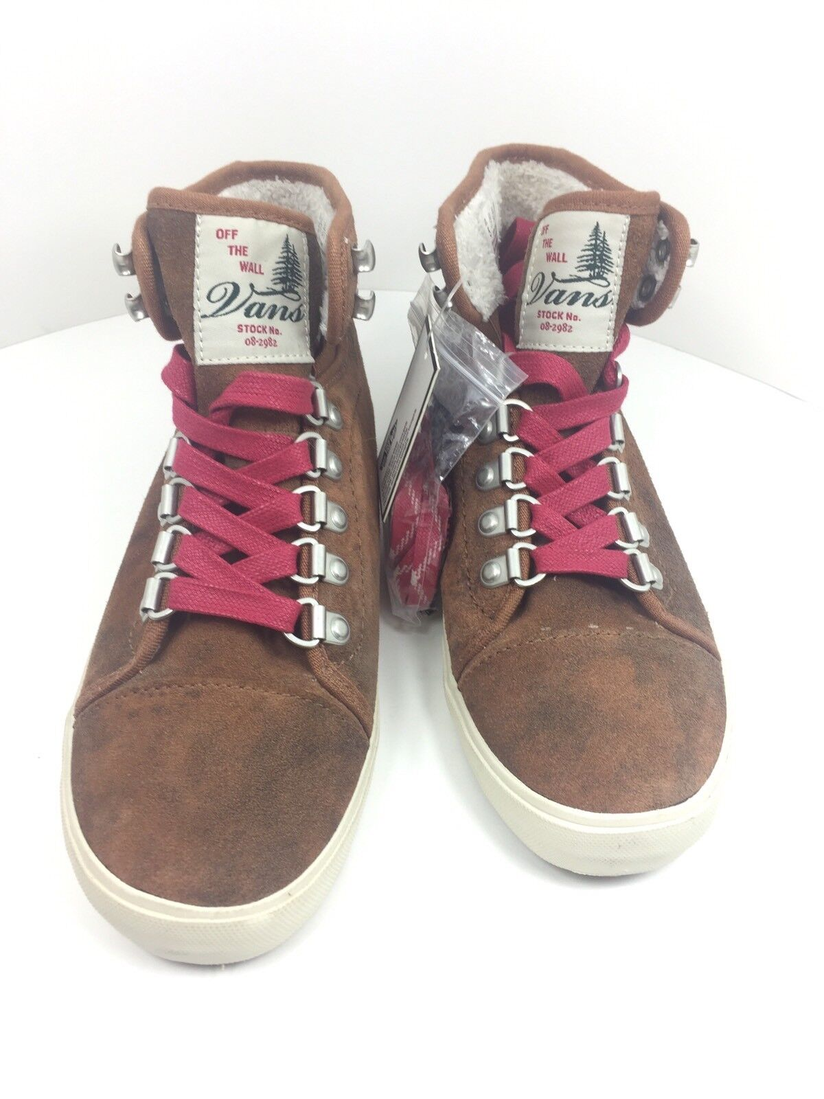 7e295996193970 VANS Women s Hadley Hiker BOOTS Shoes Brown Red SNEAKERS Size 5 for sale  online