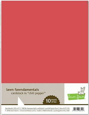"""Lawn Fawn 8 1//2 x 11/"""" Solid Core Cardstock Sheets ~ CHILI PEPPER ~ 10ct ~LF1116"""