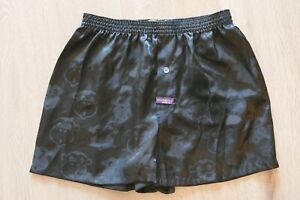 ☆—Mitch Dowd—Satin—Silk—Boxer—Shorts—Shiny—Silky—Boxers—Cartoon—1990s—Vintage—☆