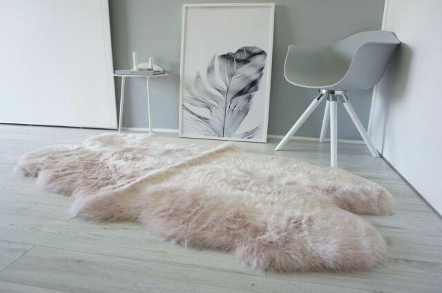 Sheepskin Rug 4 Pelt Soft Fluffy Fur