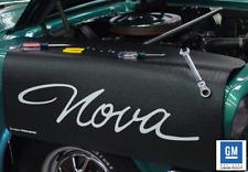Black Fender Gripper Protective Cover With Chevrolet Nova Script Logo