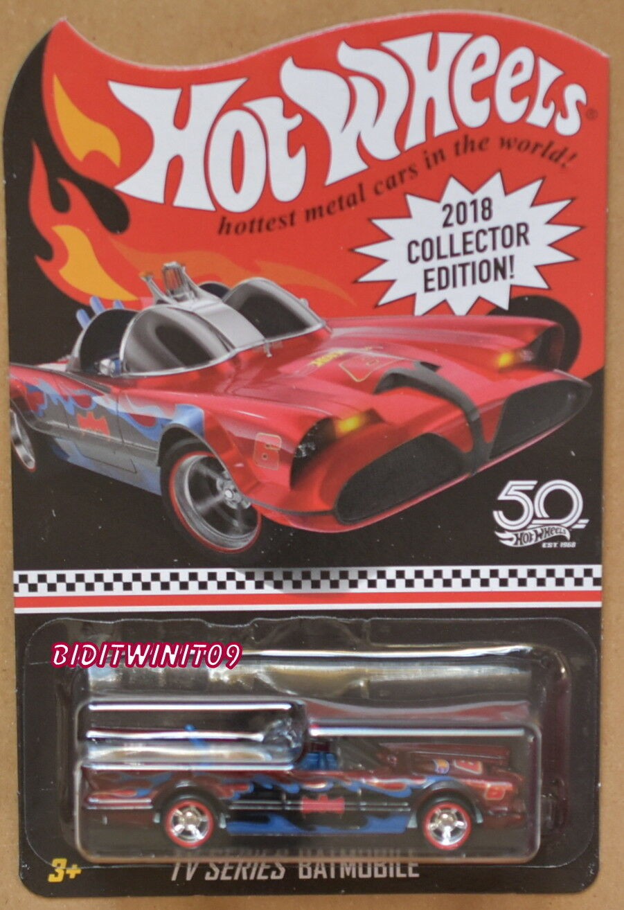HOT WHEELS 2018 COLLECTOR EDITION TV SERIES BATMOBILE KMART MAILED