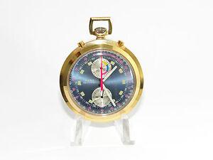 Aero-Neuchatel-Chronograph-Doctor-Valjoux-7733-Glasboden-Taschenuhr-Pocket-Watch