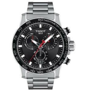 Authentic-Tissot-SUPERSPORT-Chrono-in-Acciaio-Inox-Men-039-s-Watch-T1256171105100