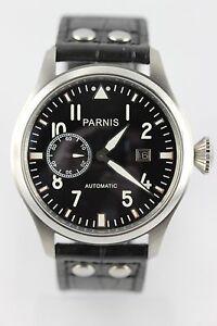PARNIS-RELOJ-PILOTOS-47mm-automaik-Seagull-ST-2551-Fecha-Segundo-Pequeno-de