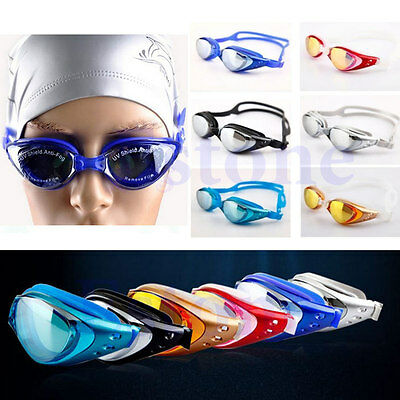 Adult Eye Protect Anti-fog Swimming Goggle Glasses Uv Adjustable Practical New