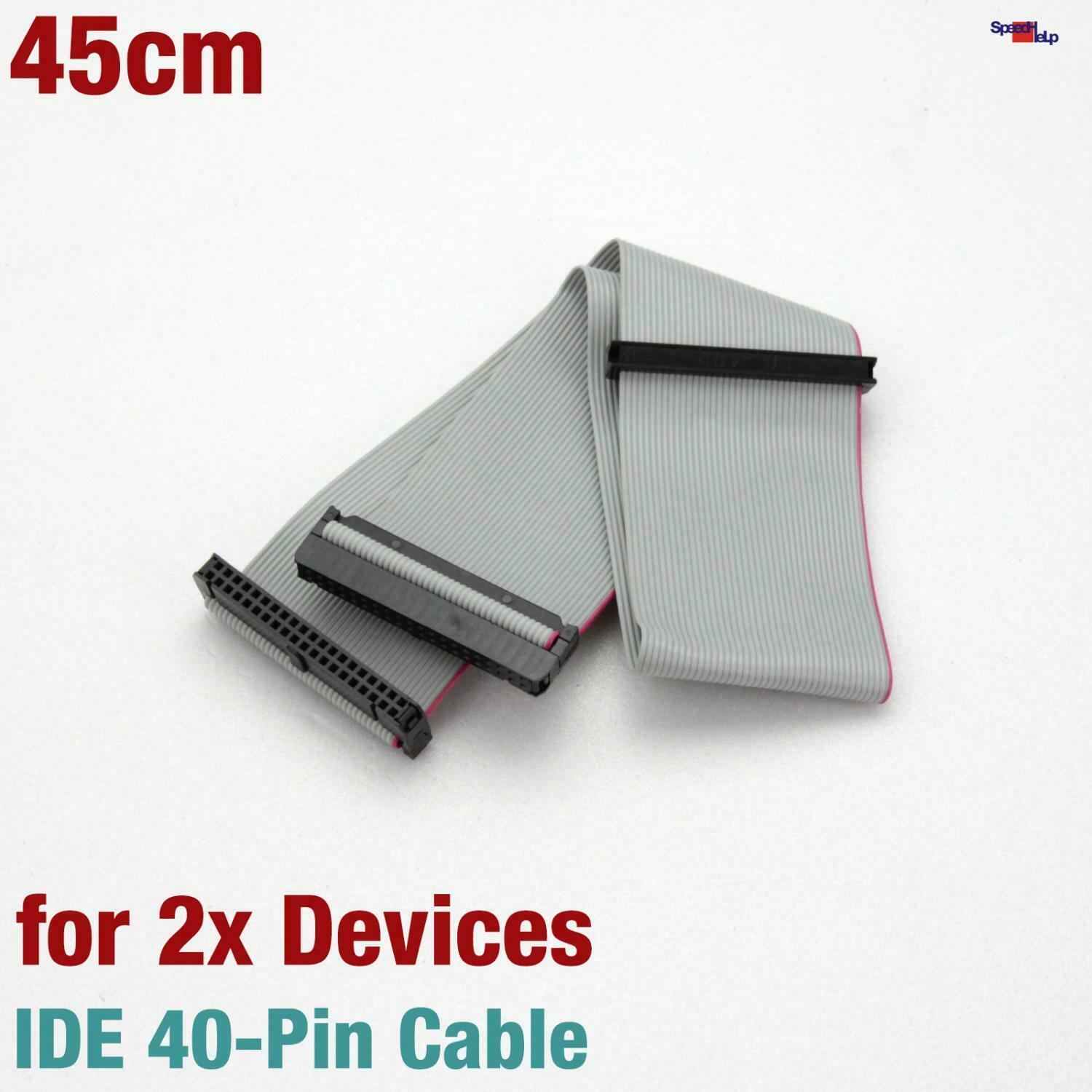 New 45CM Ide Ata Cable 3x 40-PIN Pole 2x Devices Pio Udma 33 HDD Cdrom