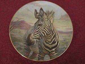 ZEBRA collector plate GREGORY PERILLO Low # RARE Nature's Harmony