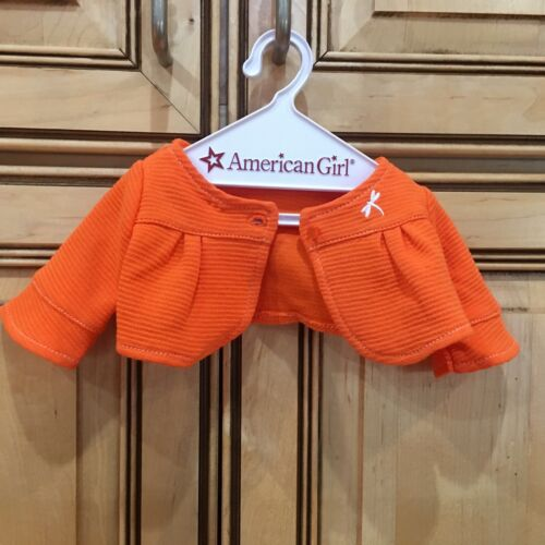 2010 American Girl Doll Lanie Butterfly Outfit Orange Cardigan  ONLY Retired