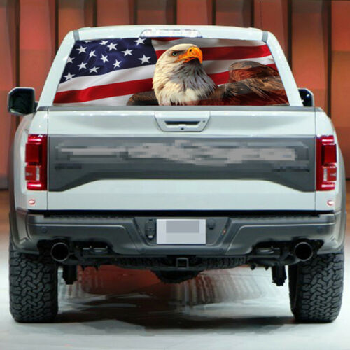 """American Flag Eagle Truck Jeep Rear Window Graphic Decal Tint Sticker 54/"""" 14/"""""""